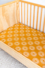 Hazel Organic Cotton Bamboo Fitted Cot Sheet