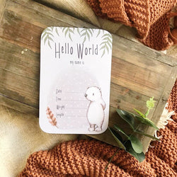 Feathered Vines Announcement Card