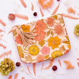 Retro Floral Nappy Wallet Clutch