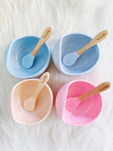 Peach Blush Silicone Suction Bowl & Spoon