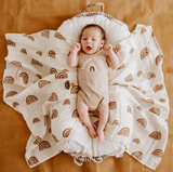 Rainbow Organic Cotton Bamboo Muslin Wrap