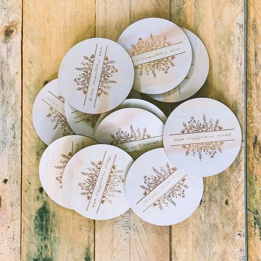 Wildflowers Banner Wooden Milestone Disc Set