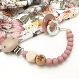Floral Rose Elements Silicone Dummy Clip