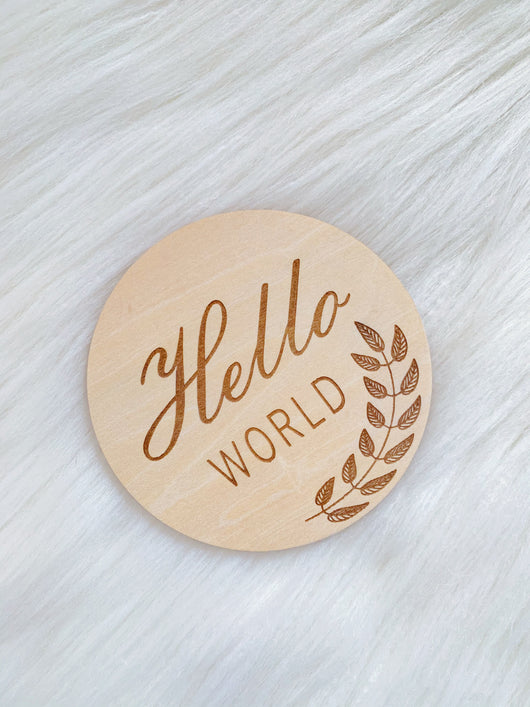Vine Wooden 'Hello World' Disc