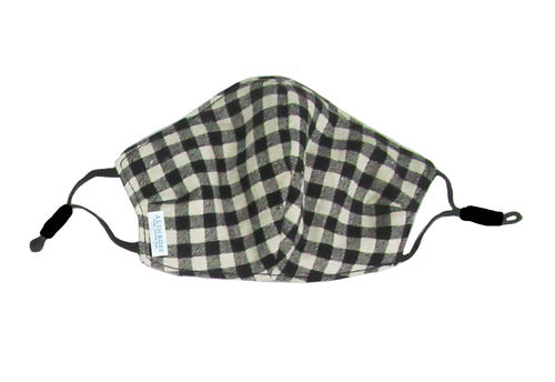 Gingham Youth Face Mask