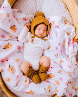Bronze Merino Wool Bonnet & Booties
