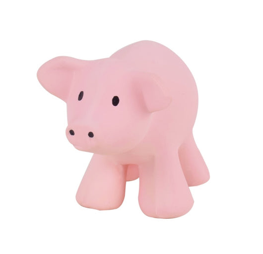 Pig Farm Animal Natural Rubber Bath Toy & Teether