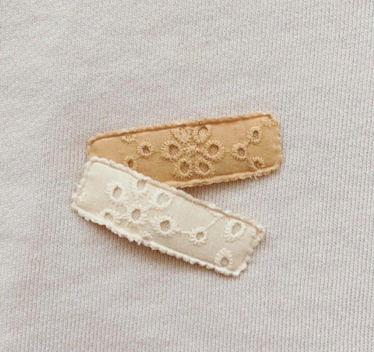 Hattie Embroidered Clip Set