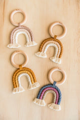 Dusk Rainbow Woven Teether