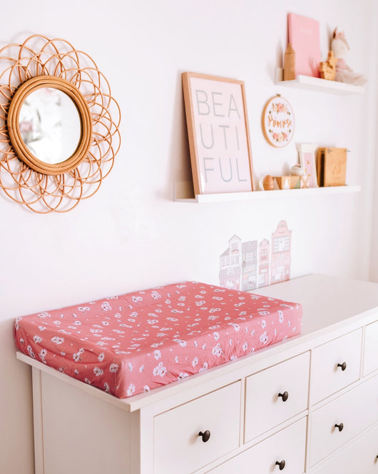 Daisy Change Pad Cover & Bassinet Sheet