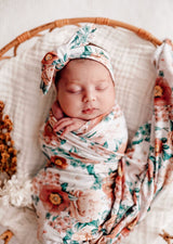 Florence Wrap Blanket & Topknot
