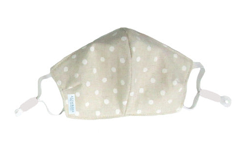 Linen Ivory Spot Youth Face Mask