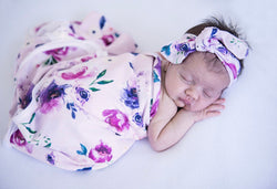 Floral Kiss Wrap Blanket & Topknot
