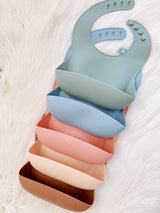 Muted Rose Silicone Scoop Bib