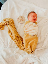 Wooden Classic 'WELCOME TO THE WORLD' Birth Announcement Disc
