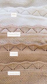 Caramel Fleck Heirloom Knit Blanket