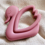 Dusty Rose Swan Teether