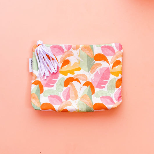 Vibrant Leaf Nappy Wallet Clutch