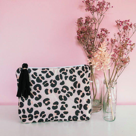 Creamy Leopard Nappy Wallet Clutch