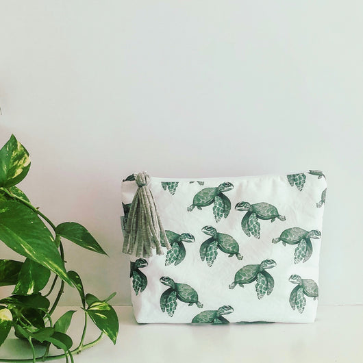 Turtle Sea Nappy Wallet Clutch