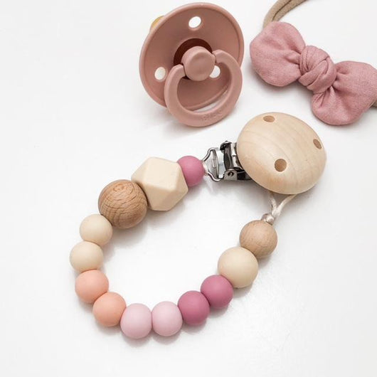 Rose Ombre Silicone Dummy Clip