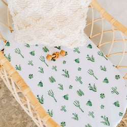 Cactus Bassinet Sheet & Change Pad Cover
