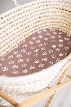 Aster Moses Basket Organic Cotton Bamboo Fitted Sheet