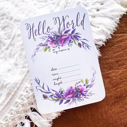 Violetta Floral Announcement Card