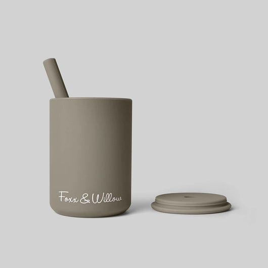 Dusty Sage Silicone Cup & Straw