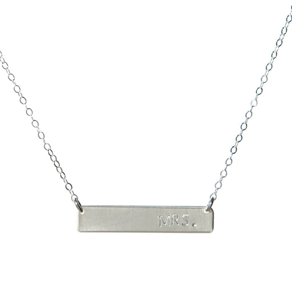Bride-to-be Bar Necklace