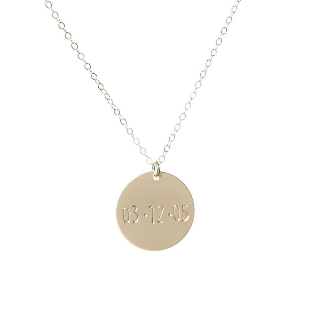 Date Disk Necklace