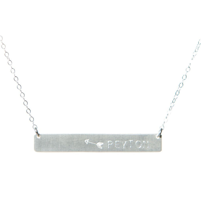 Arrow Name Bar Necklace
