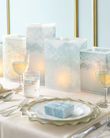 Vellum Luminarias - Martha Stewart Weddings