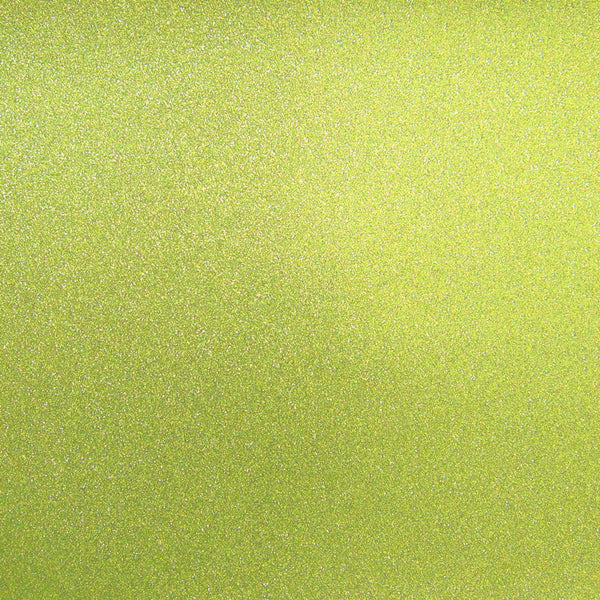"Lime Green Glitter Card Stock 81#, 12"" x 12"" - Paperandmore.com"