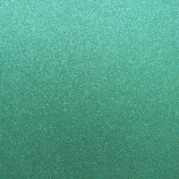 "Prussian Aqua Blue Glitter Card Stock 81#, 12"" x 12"""