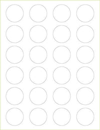 "Classic White Solid Paper 80# Labels - 1 1/2"" Circle - Paperandmore.com"