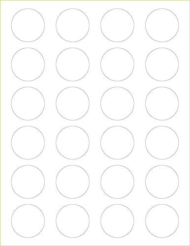 "Recycled White Fiber Labels - 1 1/2"" Circle"