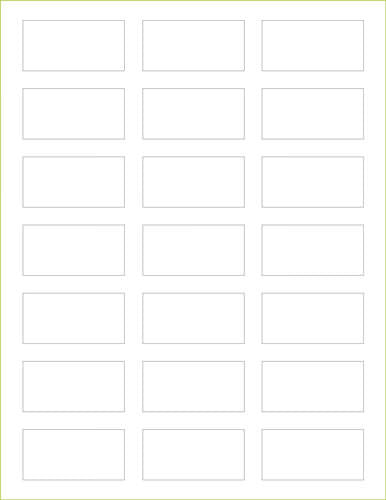"Classic White Solid Paper 80# Labels -1 1/8"" x 2 1/4"" - Paperandmore.com"