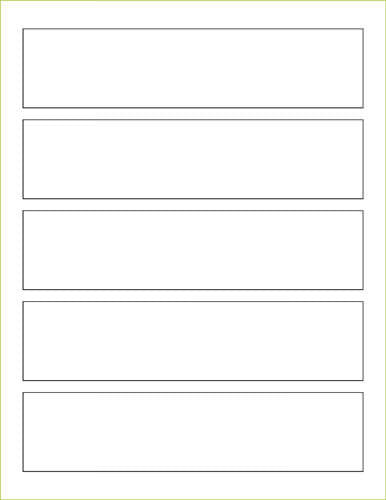 "Silver Metallic Labels - 1 3/4"" x 7 1/2"" Rectangle (5 labels per sheet) - Paperandmore.com"