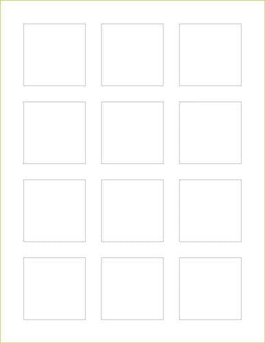 "Bright White Linen Labels -2"" x 2"" Square - Paperandmore.com"