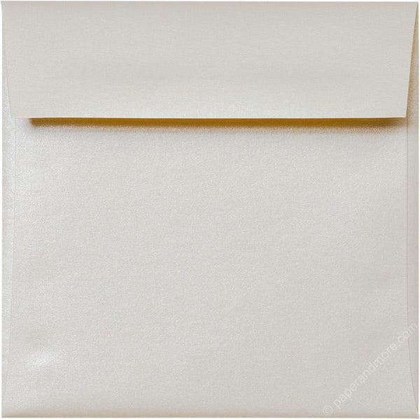 "5 1/2"" Square Champagne Cream Metallic Envelopes (5 1/2"" x 5 1/2"") - Paperandmore.com"