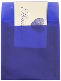 "6 1/2"" Square Primary Blue Translucent Vellum Envelopes"