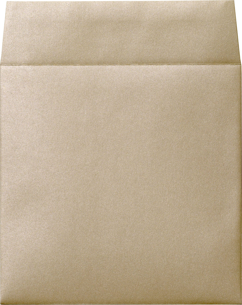 "6 1/2"" Square Beige Sand Metallic Envelopes (6 1/2"" x 6 1/2"") - Paperandmore.com"