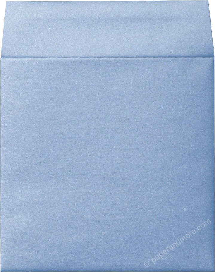 "6 1/2"" Square Blue Vista Metallic Envelopes (6 1/2"" x 6 1/2"")"