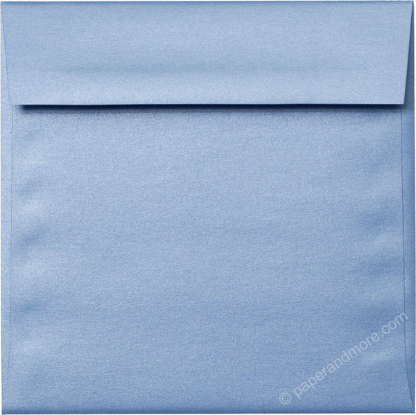 "6 1/2"" Square Blue Vista Metallic Envelopes (6 1/2"" x 6 1/2"") - Paperandmore.com"