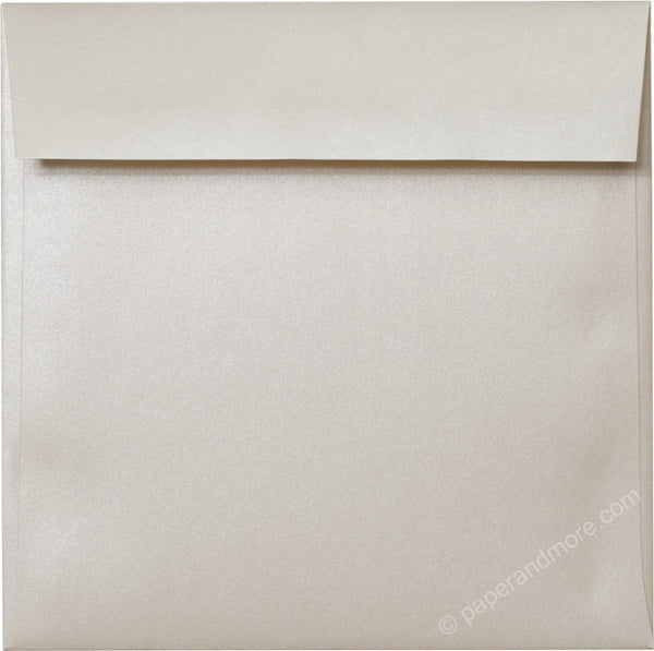 "6 1/2"" Square Champagne Cream Metallic Envelopes (6 1/2"" x 6 1/2"") - Paperandmore.com"