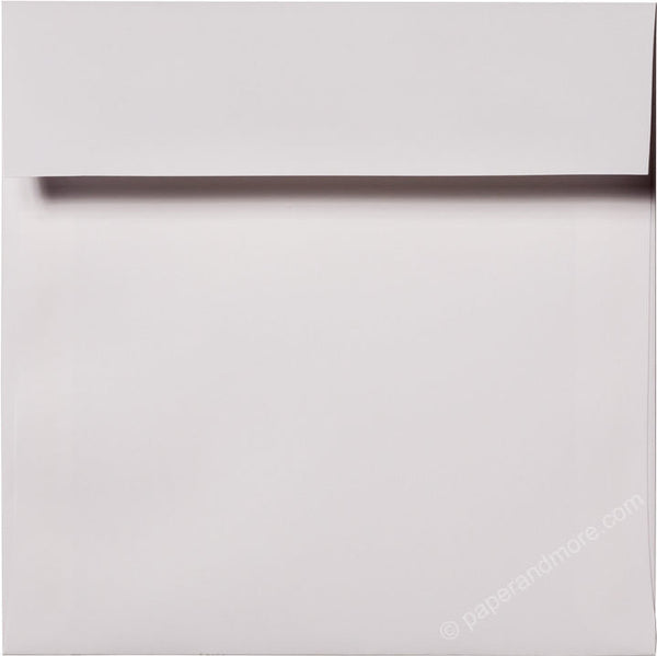 "6 1/2"" Square Classic White Solid Envelopes (6 1/2"" x 6 1/2"") - Paperandmore.com"