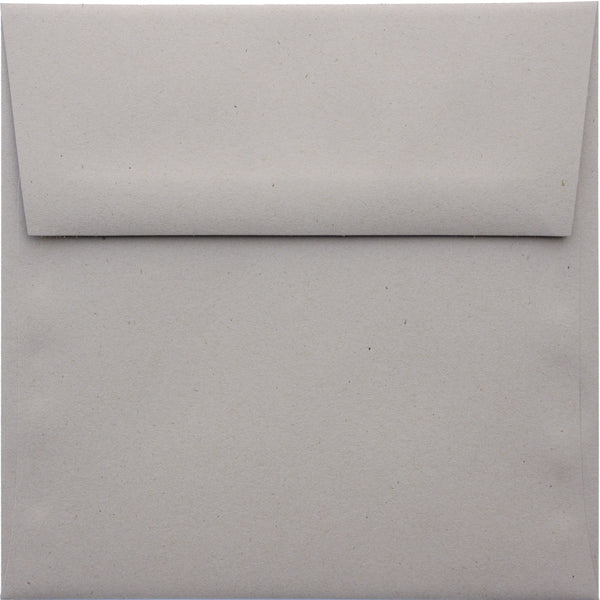 "5 1/2"" Square Concrete Gray Kraft Raw Recycled Envelopes (5 1/2"" x 5 1/2"") - Paperandmore.com"