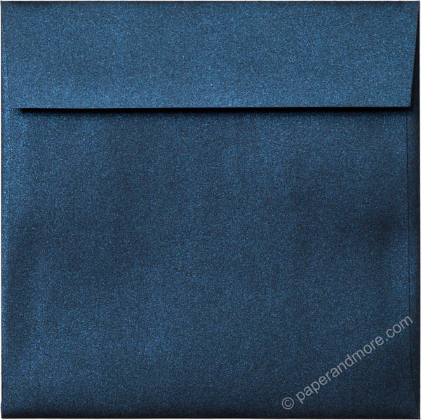 "6 1/2"" Square Dark Blue Metallic Envelopes (6 1/2"" x 6 1/2"") - Paperandmore.com"