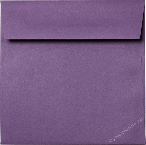 "6 1/2"" Square Dark Purple Solid Envelopes (6 1/2"" x 6 1/2"") - Paperandmore.com"